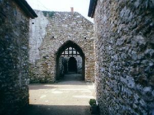 A gatehouse at Hemyock Castle