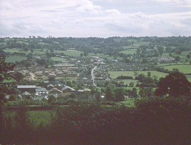 A view of Hemyock taken from the 1986 Domesday Project