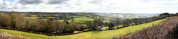 A panorama of the Ashculm valley
