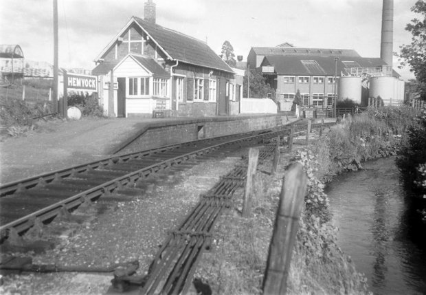 The station and milk factory buildings at Hemyock
