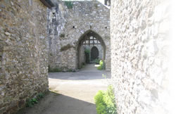 Another view of a gatehouse at Hemyock Castle