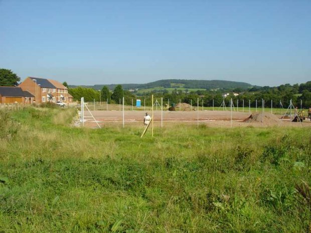 Tennis courts under construction - Aug 05