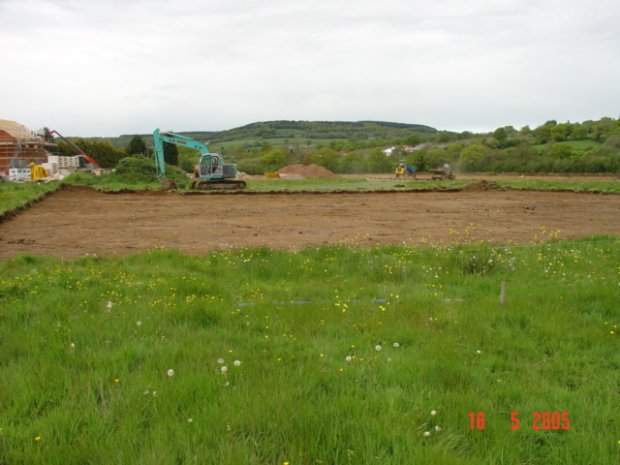 Start of construction of the Tennis Courts - May 05