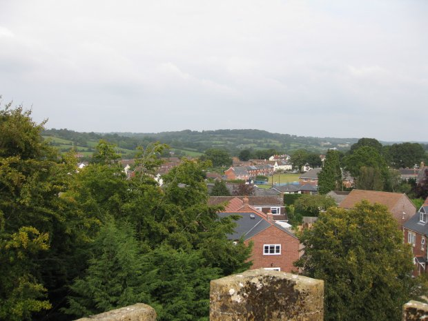 Towards South View from the Church tower
