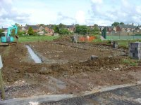 Footings for the pavilion - May 07