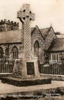 The War Memorial in front of St Mary's church, before the railings were removed