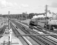 The Hemyock train sets off onto the branch line, Tiverton Junction, 07/09/1961, image © Robert Darlaston, www.robertdarlaston.co.uk
