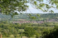 The village viewed from Culm Davy