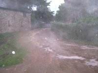 The village suffered the edge of a cloudburst, apparently centred on Crewkerne where 11mm fell in 3 hours.