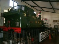 1442 at Tiverton Museum - this loco sometimes pulled trains on the CVLR