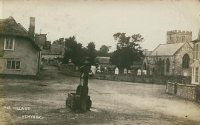 The Pump, Public Houses, and Church in times before the War Memorial was erected, and the Pump made more ornate