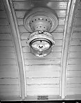 Gas lamp in the ceiling of carriage W268