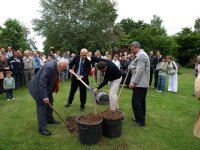 A tree was planted by the dignitaried to symbolise the growth in ties between the communities