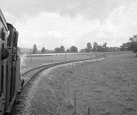 View from train en route to Hemyock, showing curves, 06/09/1963, image © Robert Darlaston, www.robertdarlaston.co.uk
