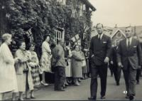 Duke of Edinburgh visiting Uffculme in the 50's