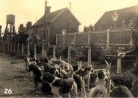 Old Postcard taken by Dr. John Griffin of the local hunt at Hemyock Station c. 1950