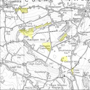 Hemyock Commons Map